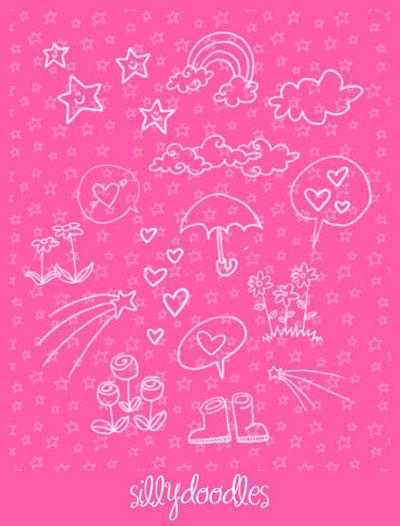 Free Doodle Photoshop Brushes - Doodles by Arwenita