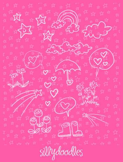 Free Doodle Photoshop Brushes - Doodles by Arwenita