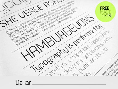 Download High Quality Free Fonts - Dekar Free Font