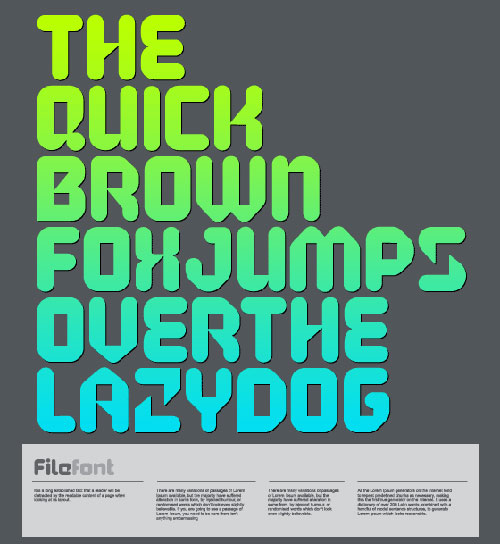 Download High Quality Free Fonts - FILE™ free font