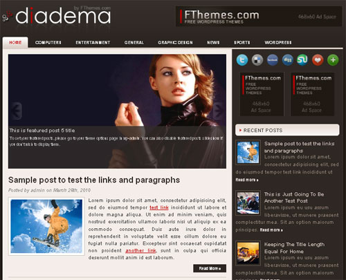 High Quality Magazine Style WordPress Theme - Diadema