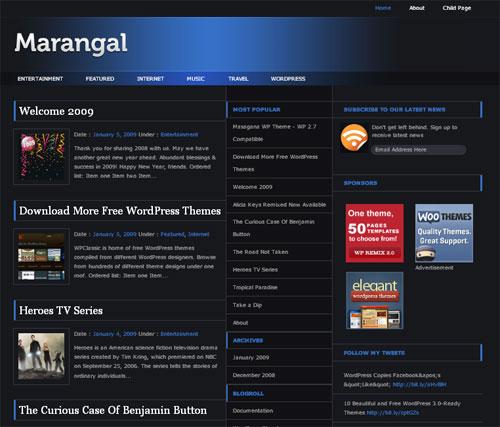 High Quality Magazine Style WordPress Theme - Marangal