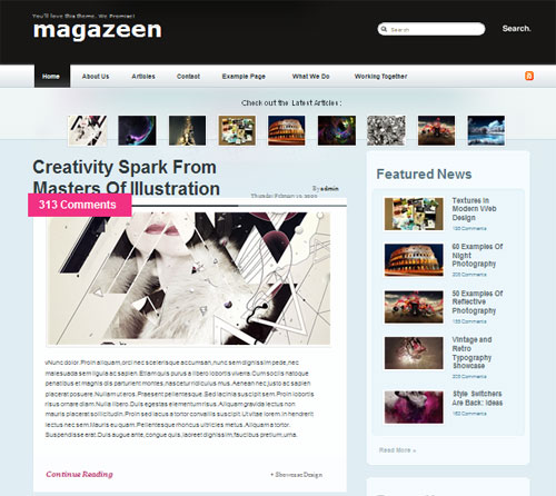 High Quality Magazine Style WordPress Theme - Magazeen