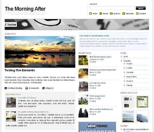 High Quality Magazine Style WordPress Theme - The Morning After