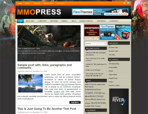 High Quality Magazine Style WordPress Theme - MMoPress
