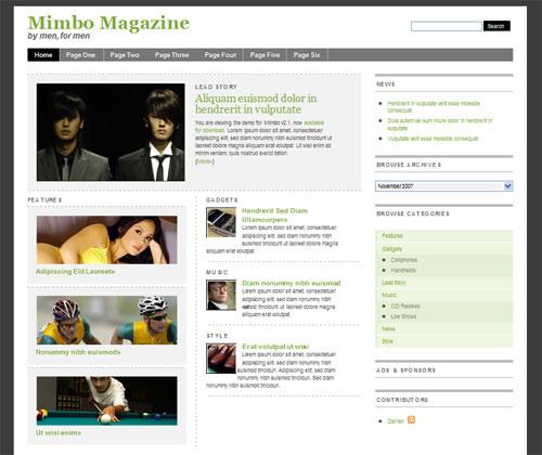 High Quality Magazine Style WordPress Theme - Mimbo Theme