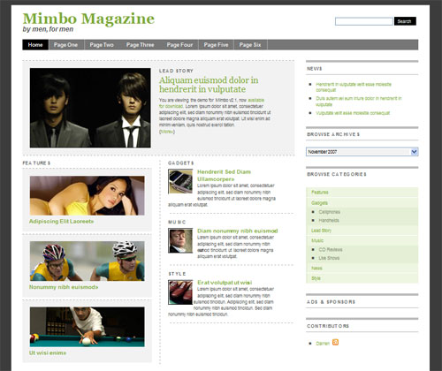 High Quality Magazine Style WordPress Theme - Mimbo Theme