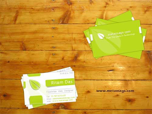 Free Business Card PSD Template 1