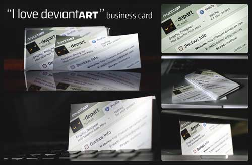 Free Business Card PSD Template by Depart