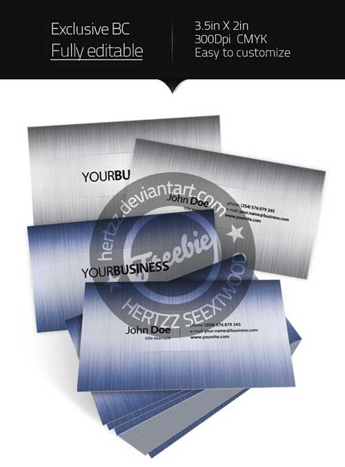 Free Business Card PSD Template by Hertzz
