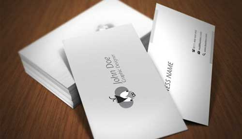 Free Business Card PSD Template by Elemis