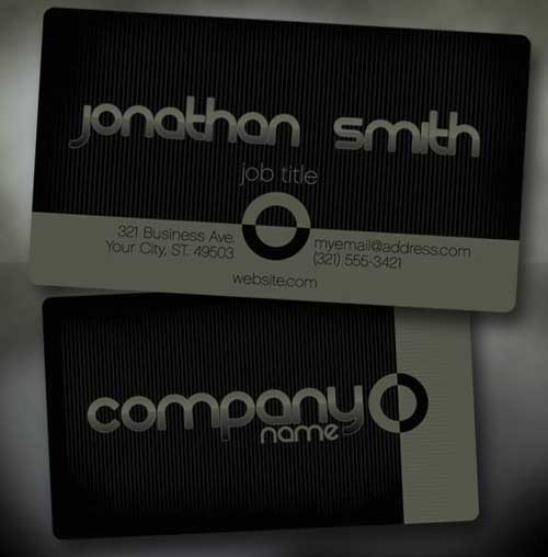 Free Business Card PSD Template by CursiveQ-Designs