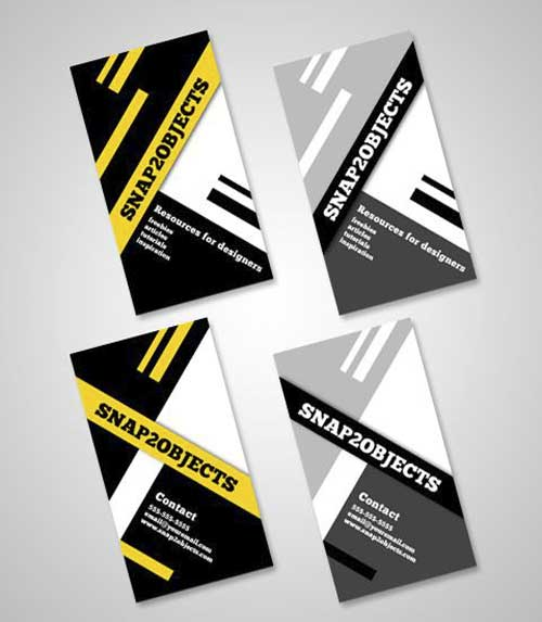 Free Business Card PSD Template by Snap2objects