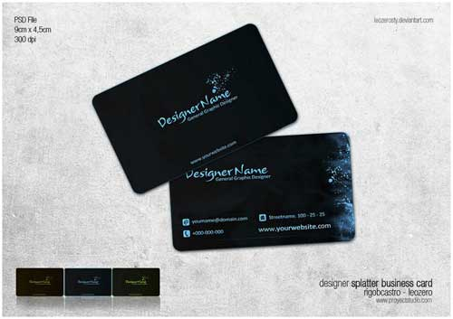 Free Business Card PSD Template by Leozerosty