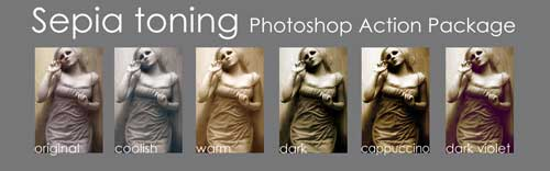 Download Free Sepia Tone Photoshop Action by Paranoidstock