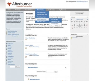 Free Moodle Themes - Afterburner