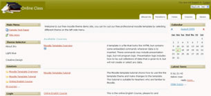 Free Moodle Themes - Menu Hover