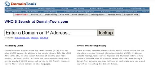 Buy site with aged domain - Whois Lookup