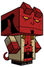 Creative Superhero Paper Models - Hellboy