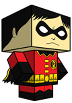 Creative Superhero Paper Models - Robin