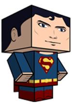 Creative Superhero Paper Models - Superman