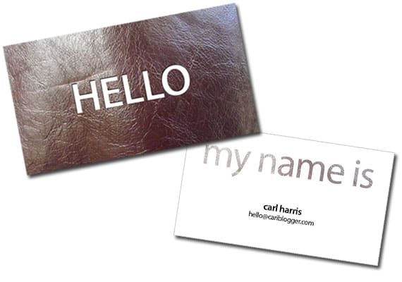 (Freebies) Simple Leather Business Card PSD