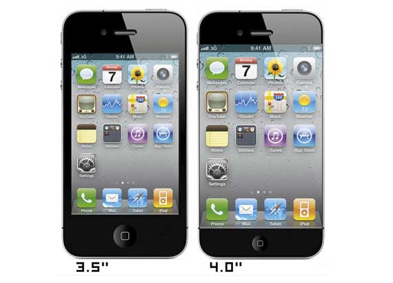 iPhone 5 with 4 inch Screen?
