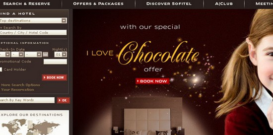 Hotel Web Design Round Ups - Sofitel Hotels