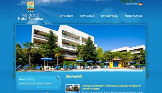Hotel Web Design Round Ups - Hotel Paradiso