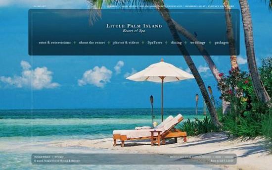 Hotel Web Design Round Ups - Little Palm Island Resort