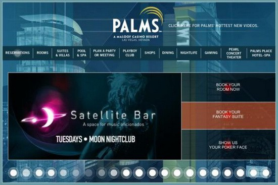 Hotel Web Design Round Ups - Palms Casino Resort