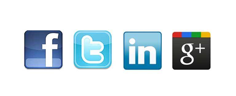 Social Media Facebook, Twitter, Google+ & Linkedin