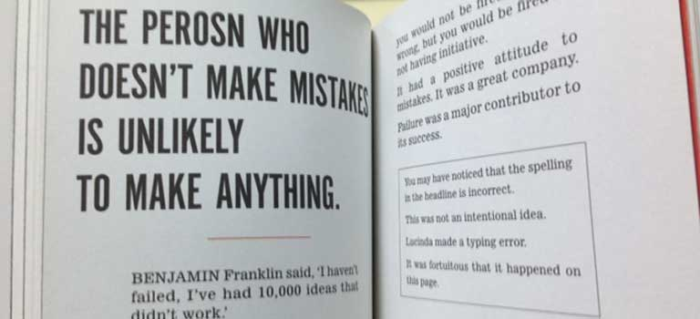 The Perosn Who Doesn't Make Mistakes is Unlikely Make Anything