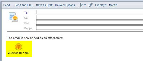 Lotus Notes eml Attachment