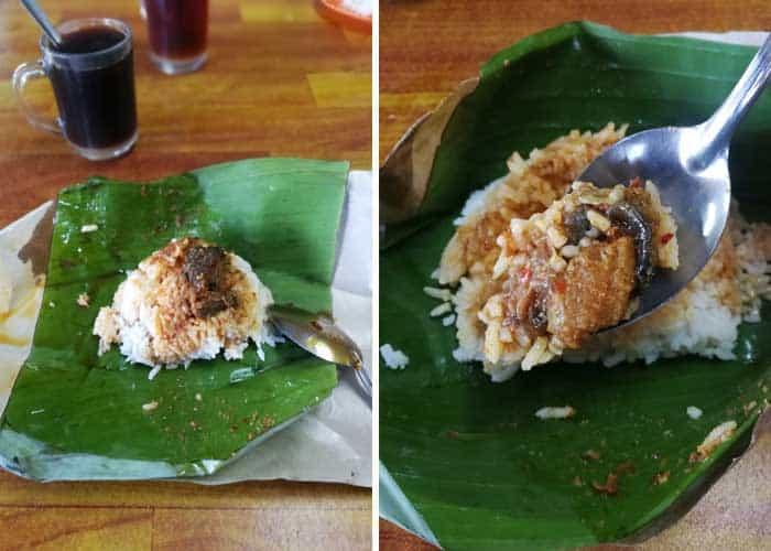 warung nayan lenggeng nasi lemak gulai sembilang min - Menikmati Nasi Lemak Ikan Keli & Kodok Gelumang di Warung Nayan, Lenggeng - 3