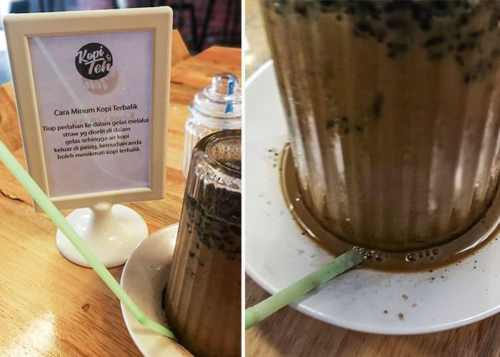 cara minum kopi terbalik min - Keasyikan Kopi Terbalik Aceh di Kopi & Teh, Kuantan - 3
