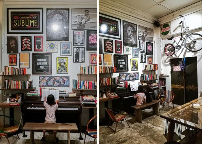 coastal store cafe kuantan piano min - Gabungan Muzik, Buku & Kopi di Coastal Store, Kuantan - 5