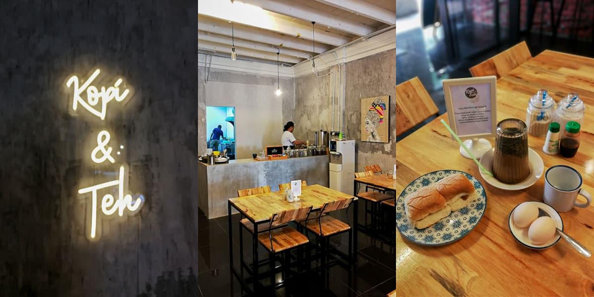 kopi dan teh cafe best di jalan besar kuantan min - 5 Cafe Paling Best & Trending di Jalan Besar, Kuantan - 1