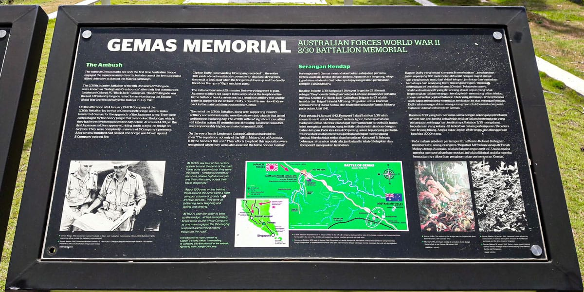 Sungai Kelamah Memorial Information 2
