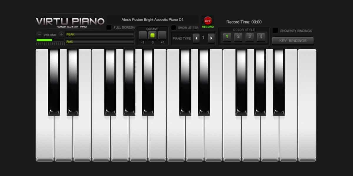 Online Game Percuma Virtual Piano